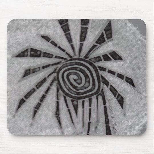tribal sun mouse mat
