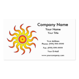 Tribal Sun Pack Of Standard Business Cards