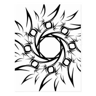 Tribal Sun Postcard