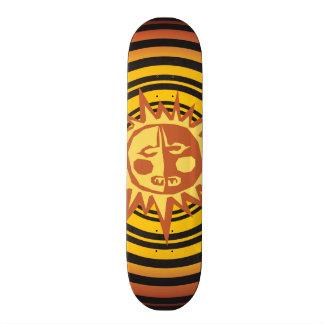 Tribal Sun Primitive Caveman Drawing Pattern 21.6 Cm Skateboard Deck