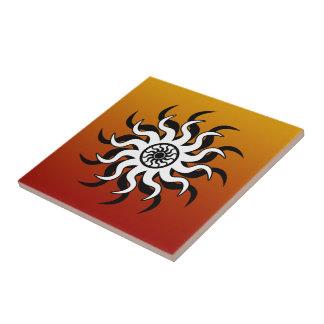 Tribal Sun Southwest Design Ceramic Tile