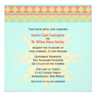 Tribal Sun Southwestern Wedding Invitation