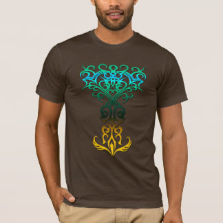 Tribal symbol 18 yellow,aqua (tree of life) T-Shirt