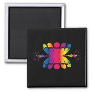 tribal symbol square magnet