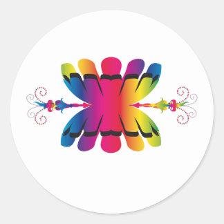 tribal symbol round stickers