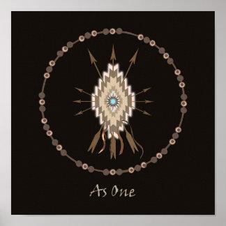 Tribal Symbols Friendship Art Poster Print