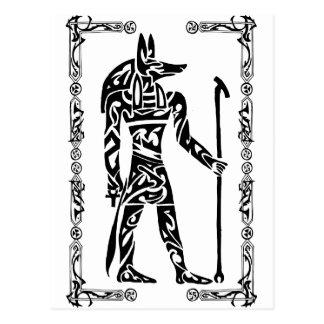 Tribal Tattoo Anubis Postcards