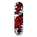 Tribal Tattoo Blades (red and black) 18.1 Cm Old School Skateboard Deck