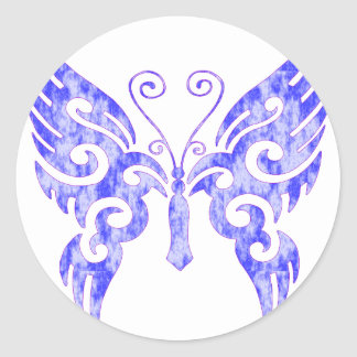 Tribal Tattoo Butterfly Classic Round Sticker