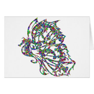 Tribal Tattoo Butterfly Seahorse Greeting Card