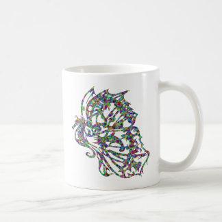 Tribal Tattoo Butterfly Seahorse Mug