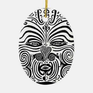Tribal Tattoo Design - New Zealand Maori Ceramic Oval Decoration