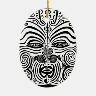Tribal Tattoo Design - New Zealand Maori Christmas Ornament