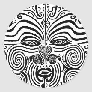 168c99bd0 Tribal Tattoo Design - New Zealand Maori Classic Round Sticker