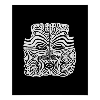 Tribal Tattoo Design - New Zealand Maori Poster
