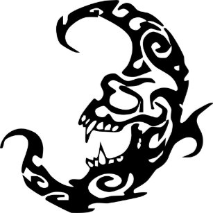 571943aba Tribal Tattoo Evil Moon Classic Round Sticker