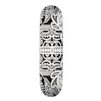Tribal tattoo skateboard deck in Marquesas style
