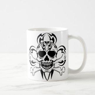 Tribal Tattoo Skull, Tribal Tattoo Skull Coffee Mugs