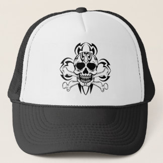 Tribal Tattoo Skull Trucker Hat