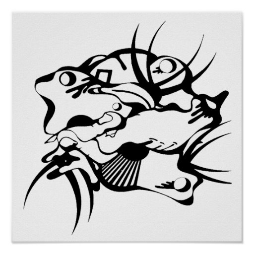 Tribal Tattoo Squeezed Poster