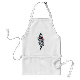 Tribal tattoo with skull aprons