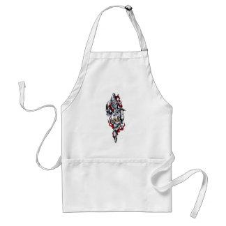 Tribal tattoo with skull standard apron