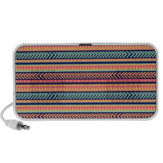 Tribal Texture Stripes Travelling Speakers