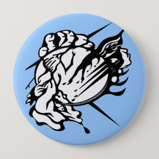 Tribal Thunder Cloud Tattoo 10 Cm Round Badge