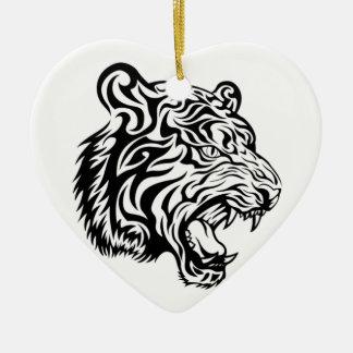 Tribal tiger christmas ornament