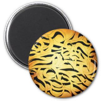 Tribal tiger flames magnet