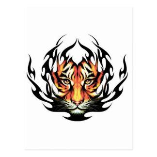 tribal Tiger Tattoo Postcard