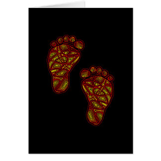 Tribal Toes Card