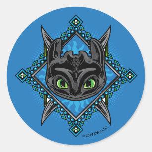 Tribal Toothless Emblem Classic Round Sticker