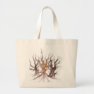 Tribal tree hanbag large tote bag