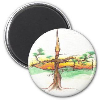Tribal tree man magnet
