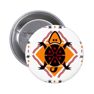 tribal-turtles 6 cm round badge