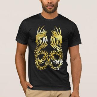 tribal twin dragon 1 dark tee