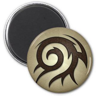Tribal Twirl Round Magnet