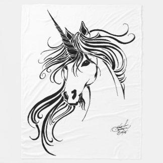 Tribal Unicorn Fleece Blanket