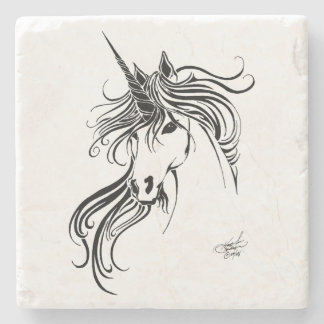 Tribal Unicorn Stone Coaster