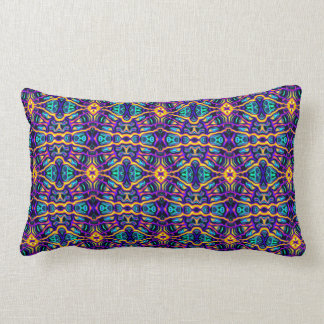 Tribal Visions Psychedelic Pattern2 Lumbar Pillow