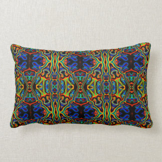 Tribal Visions Psychedelic Pattern Lumbar Pillow