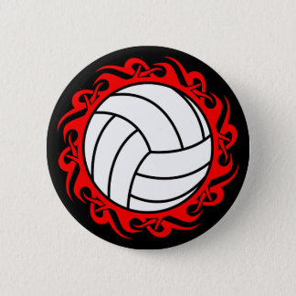 tribal volleyball 6 cm round badge
