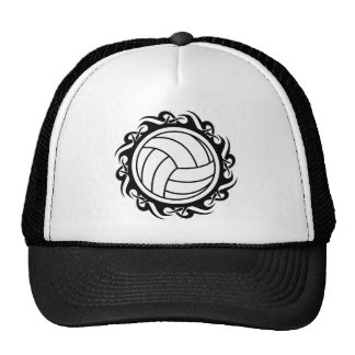 tribal volleyball mesh hat