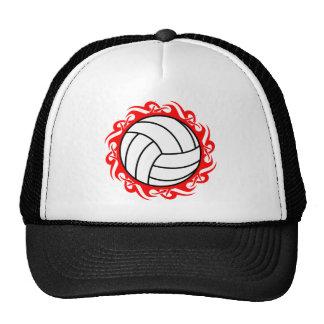 tribal volleyball mesh hats