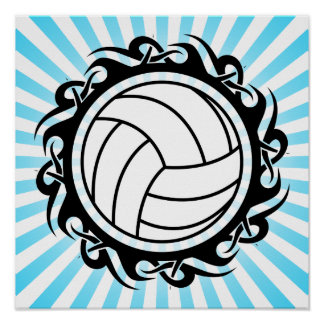 tribal volleyball poster