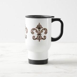 Tribal Voodoo Fleur de lis Stainless Steel Travel Mug