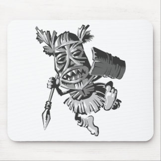 Tribal warrior mouse pad