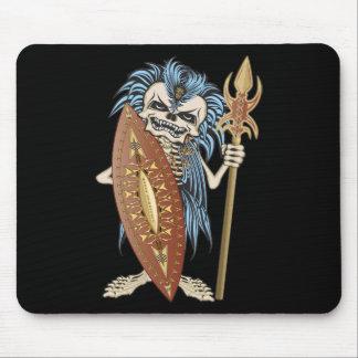 Tribal Warrior Skull Mousepad