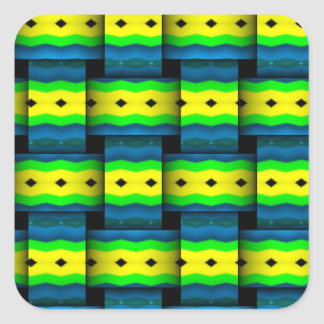 Tribal Weaves abstract pattern Square Stickers